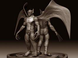 Evil Wolverine 3d model
