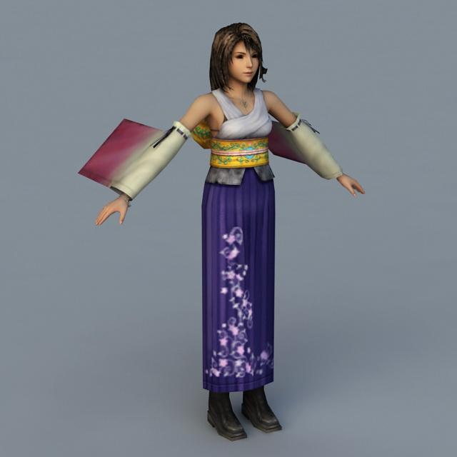 Final Fantasy X Yuna 3d model