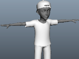 Young Teenage Boy 3d model