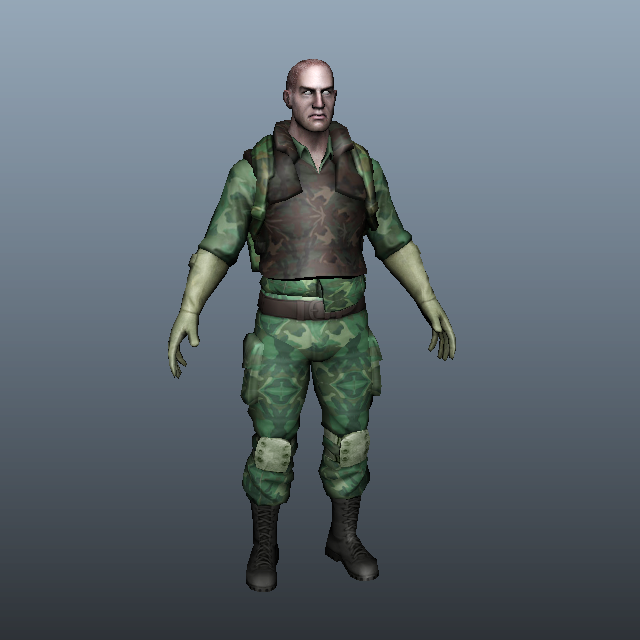 Special Forces Soldier in Uniform 3d model