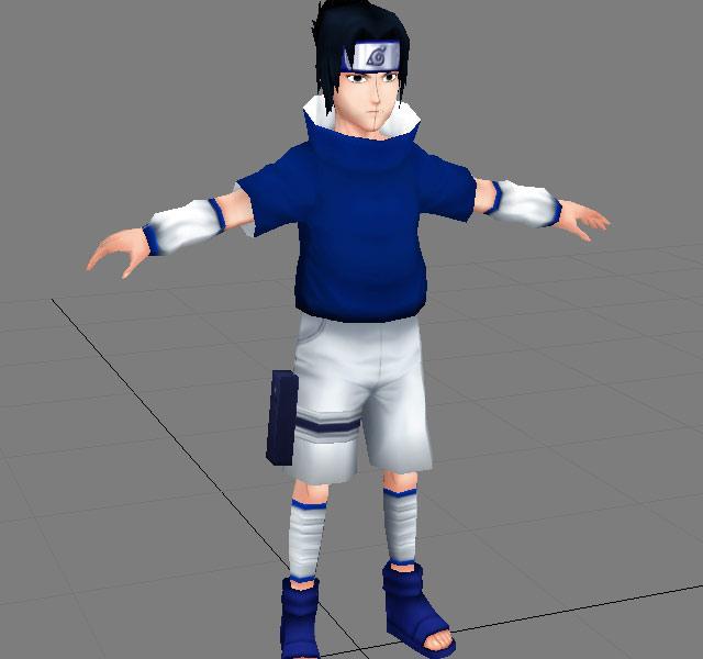 Anime Character Sasuke 3d Model 3ds Max Object Files Free