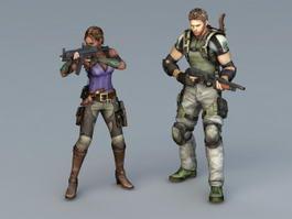 Resident Evil Character 3d model