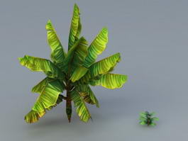 Low Poly Banana Tree 3d preview
