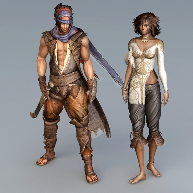 Prince Of Persia Character 3d Model 3ds Max Files Free