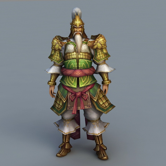 Ancient Chinese Army Officer Rig 3d Model 3ds Max Files