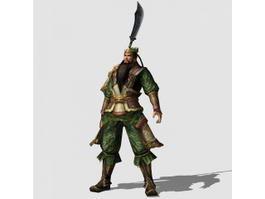 Dynasty Warrior Guan Yu Rig 3d model