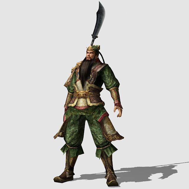 Dynasty Warrior Guan Yu Rig 3d Model 3ds Max Files Free