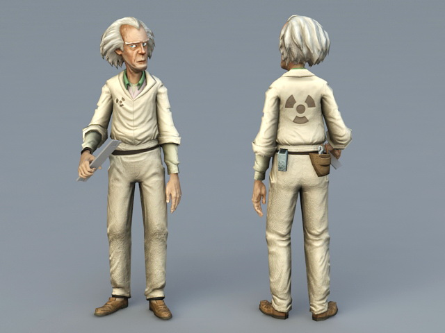 Old Man Doctor 3d model