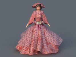 Renaissance Lady 3d model