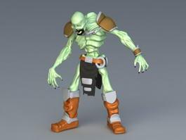 Zombie Toy Figure 3d model
