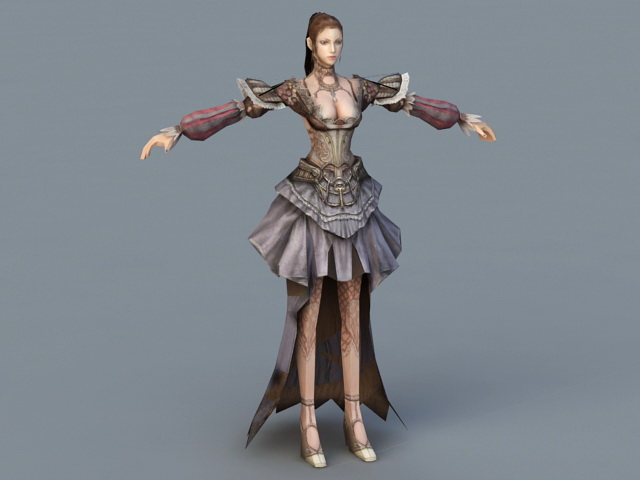 Medieval Noble Lady 3d Model 3ds Max Files Free Download