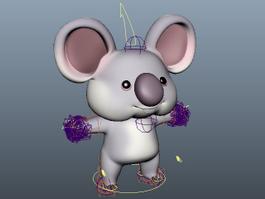 Koala Bear Cartoon 3d model
