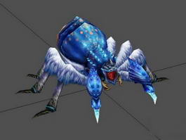 Blue Ice Spider Rig 3d model