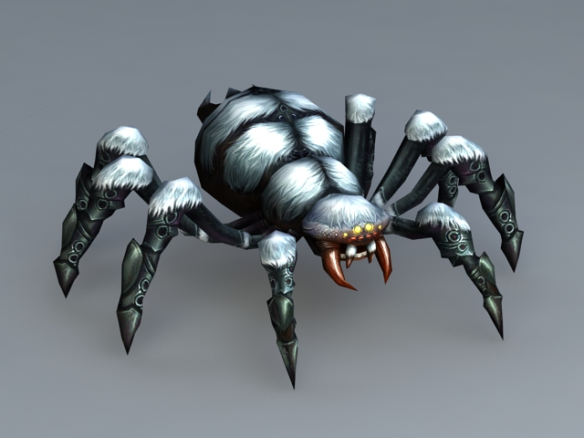 Animated Spider Monster 3d Model 3ds Max Files Free