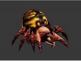 Fire Spider Beast 3d model