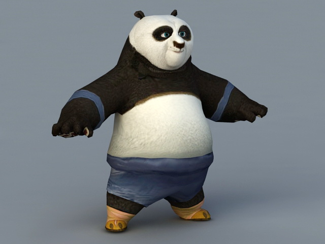 Fu Kung Panda Po 3d Model 3ds Max Autodesk Fbx Files Free