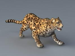 Animated Jaguar Animal 3d model