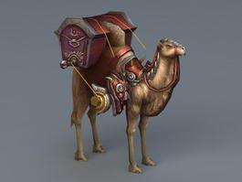 Camel Caravan 3d model