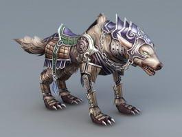 Steampunk Wolf Rig 3d model