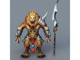 Anime Lion Warrior 3d model