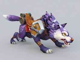 Purple Wolf Mount 3d model