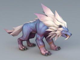 Anime Wolf 3d model