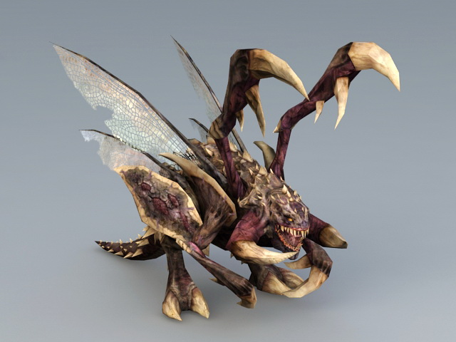 Starcraft Zergling 3d Model 3ds Max Files Free Download