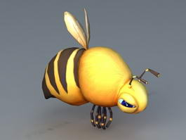 Bumble Bee Cartoon Character 3d model