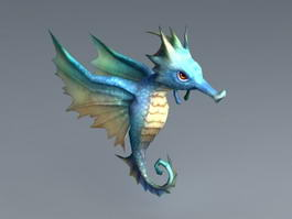 Animated Seahorse 3d model