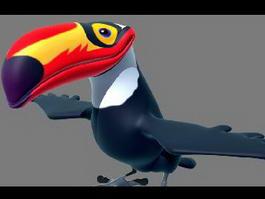 Cartoon Toucan Character 3d model
