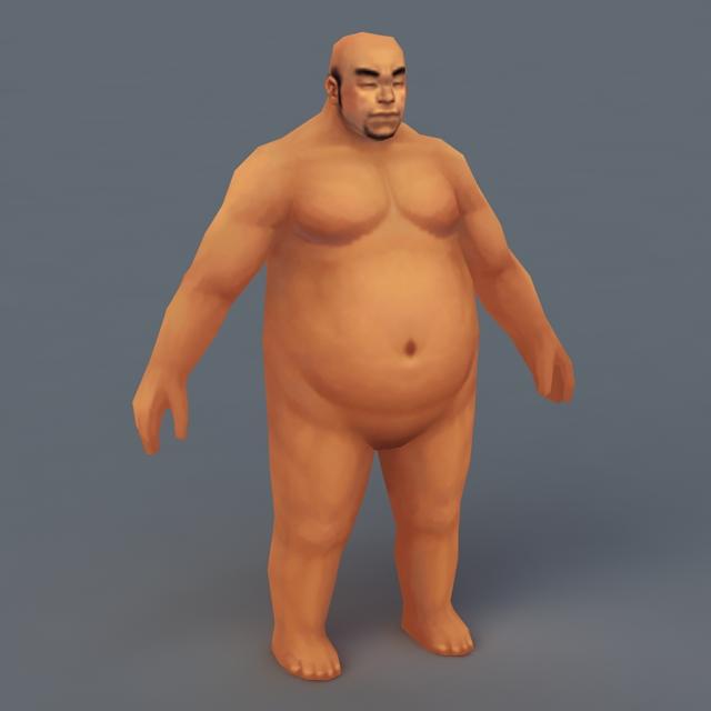 Fat Man Body 3d model