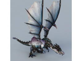 Armored Dragon 3d model