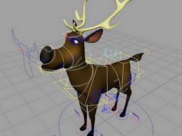 Cartoon Deer Rig 3d model