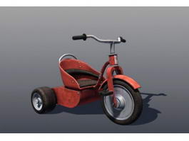 Three Wheel Tricycle 3d model
