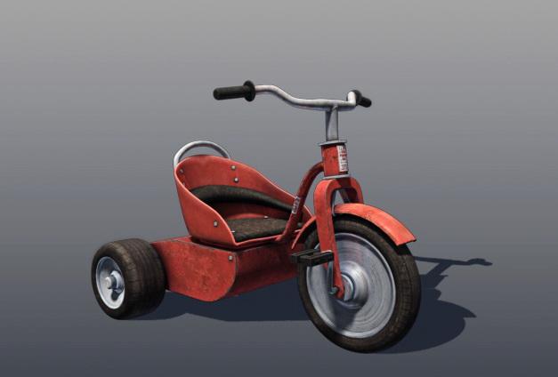 Three Wheel Tricycle 3d model