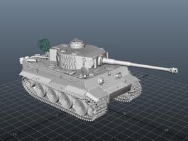 WW2 Tiger 1 Tank 3d model