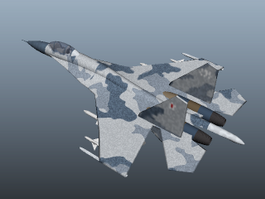 Su-27 Fighter Aircraft 3d model