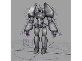 Futuristic Humanoid Robot Rig 3d model