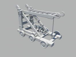 Chinese Siege Ladder 3d model