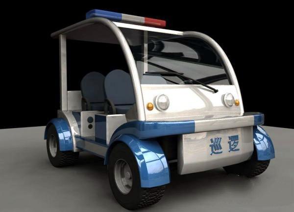Electric Police Car 3d model