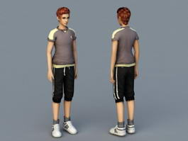 Handsome Guy 3d model