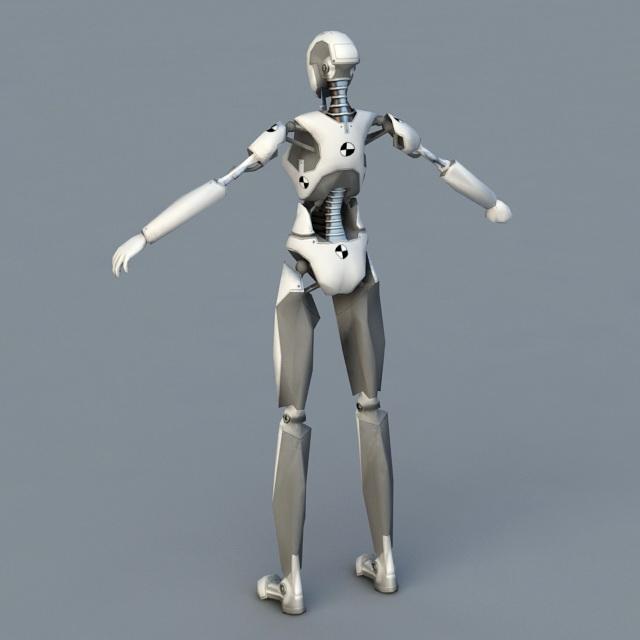 Android Female Robot 3d model - CadNav