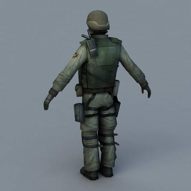 Army Soldier 3d model 3D Studio,3ds Max,Object files free download