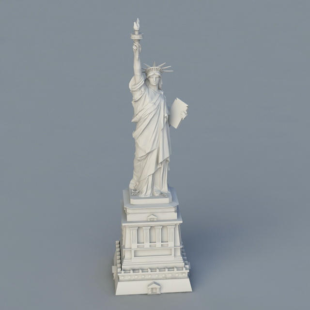new york liberty statue 3d model 3ds max object files free download