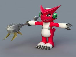 Digimon Fusion Shoutmon 3d model