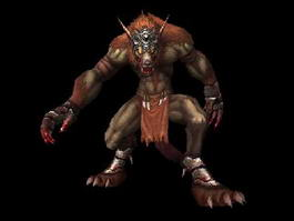 Animated Werewolf Warrior 3d model