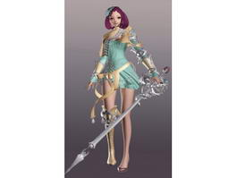 Witch Goddess 3d model
