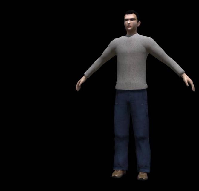 Casual Man Rig 3d model
