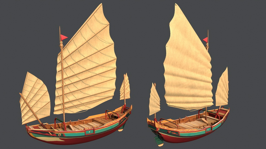 Old Sailing Ship 3d model