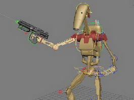 Star Wars Battle Droids 3d model